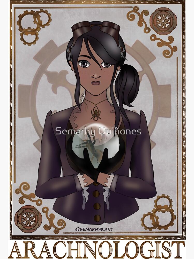 The Arachnologist (Steampunk art) by semarhy