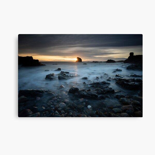 sunburst, muchalls beach Canvas Print