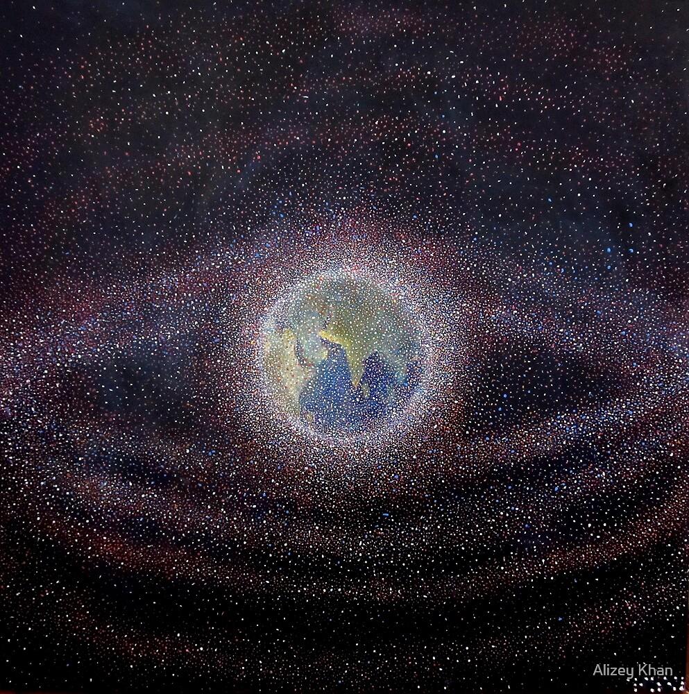 """""""Orbital Debris - Space Debris Painting"""" by Alizey Khan ..."""