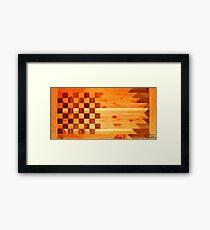 Woodworking Flag Framed Print