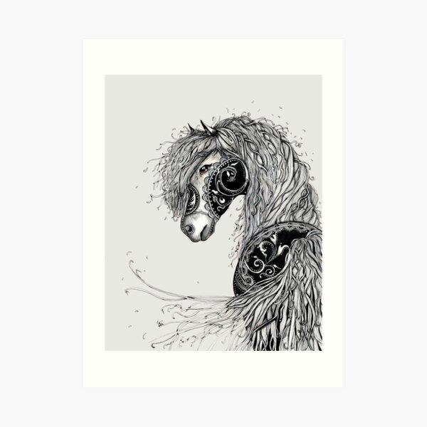 Hairy mare Art Print