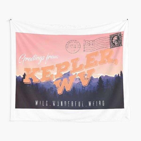 Greetings From Kepler, WV Tapestry