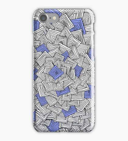Zentangle Squares Blue iPhone Case iPhone Case/Skin