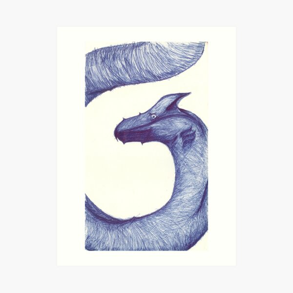 Sea Serpent, Sky Dragon Art Print