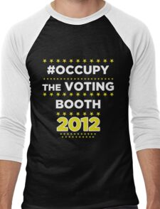 #Occupy the Voting Booth Men's Baseball ¾ T-Shirt