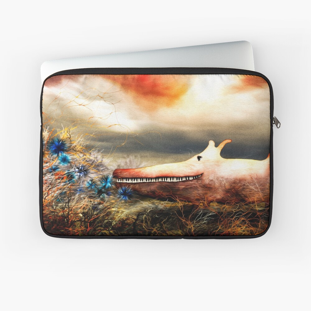 The Baby Piano Exploring the World of Flowers Laptop Sleeve