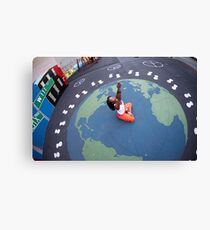 World Peace, Yoga in Harlem, New York Canvas Print