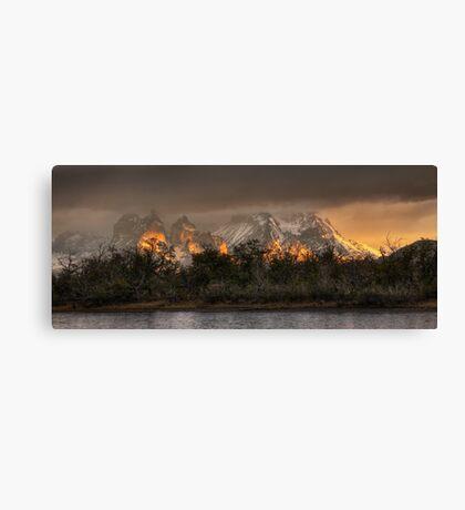 Sunrise in Torres del Paine Canvas Print