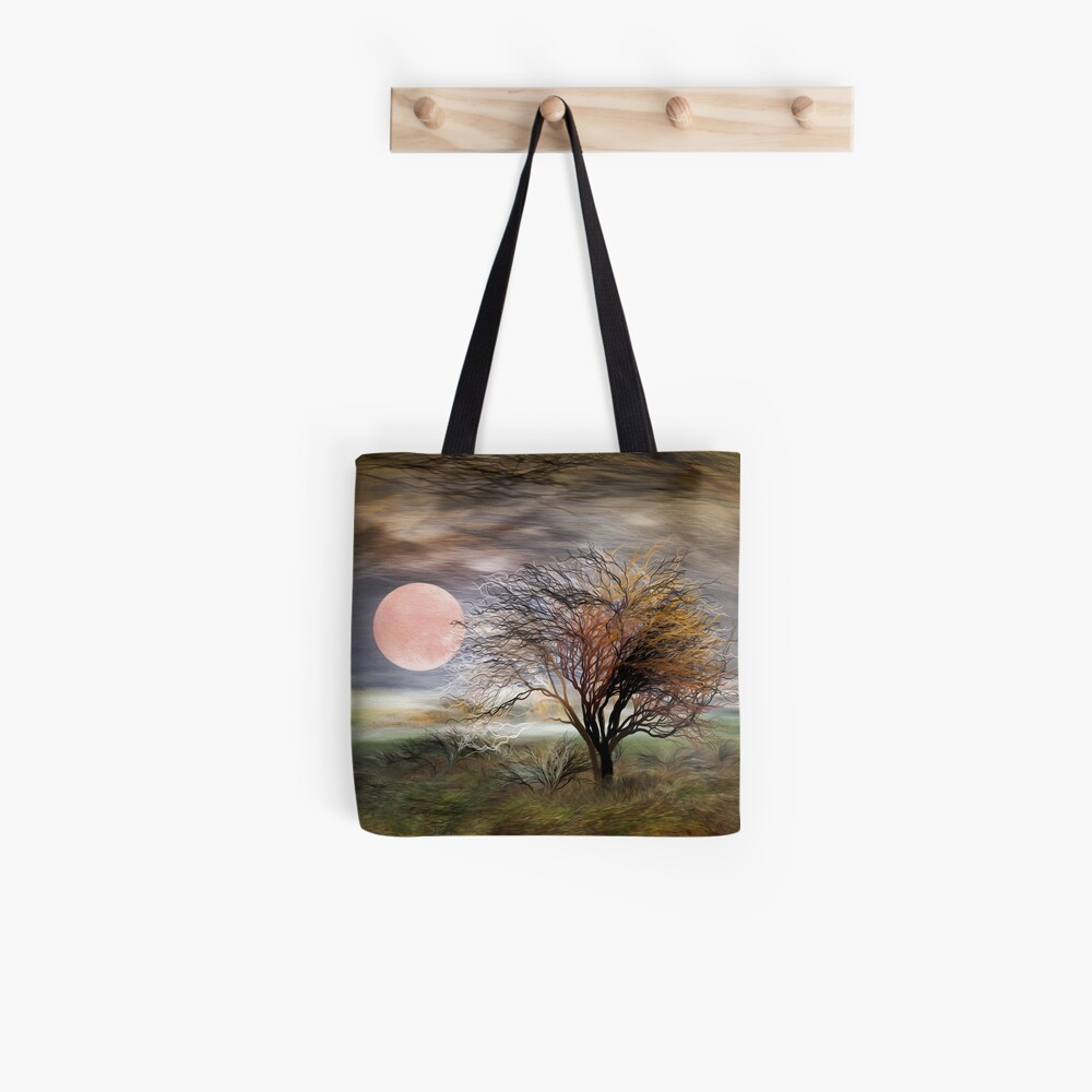 A Moon, A Pink One Tote Bag