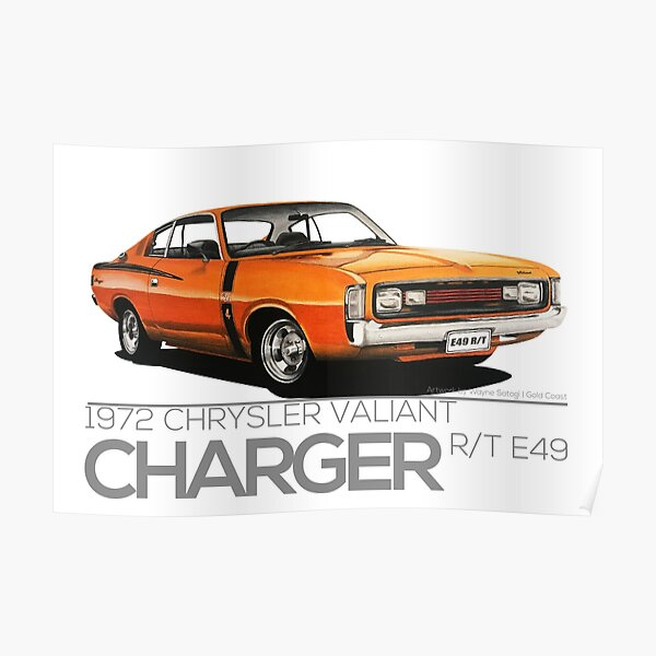 1972 Chrysler Valiant Charger R/T E49 'Enthusiasts Series' Poster