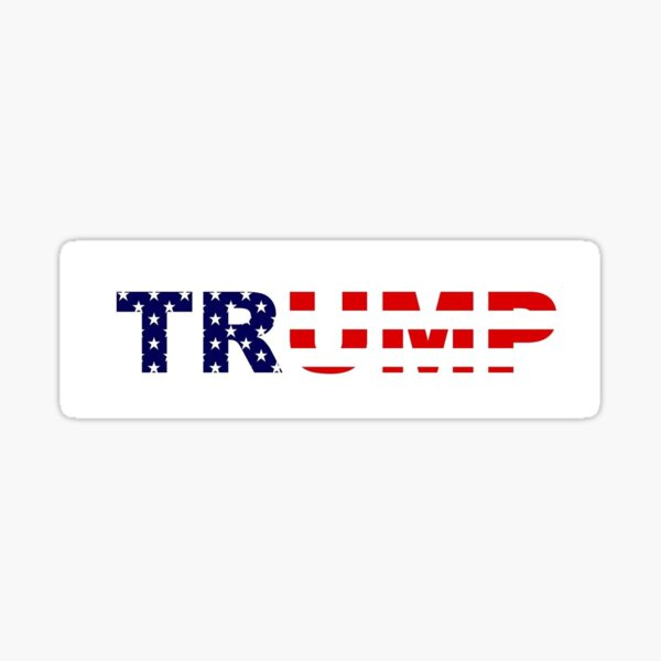 Trump Oval Drain The Swamp Great 2nd NRA Politic Republican USA Flag Sticker