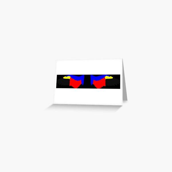 Spread Angel Wings in Polyamorous Pride Flag Colors Greeting Card