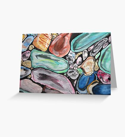Gemstones Greeting Card