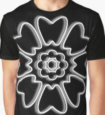 Minimalist White Lotus Graphic T-Shirt