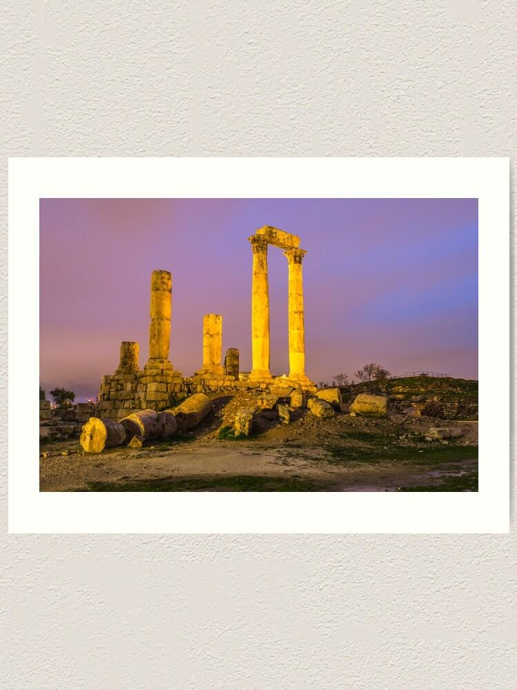 Alternate view of Temple of Hercules in Amman, Jordan Art Print