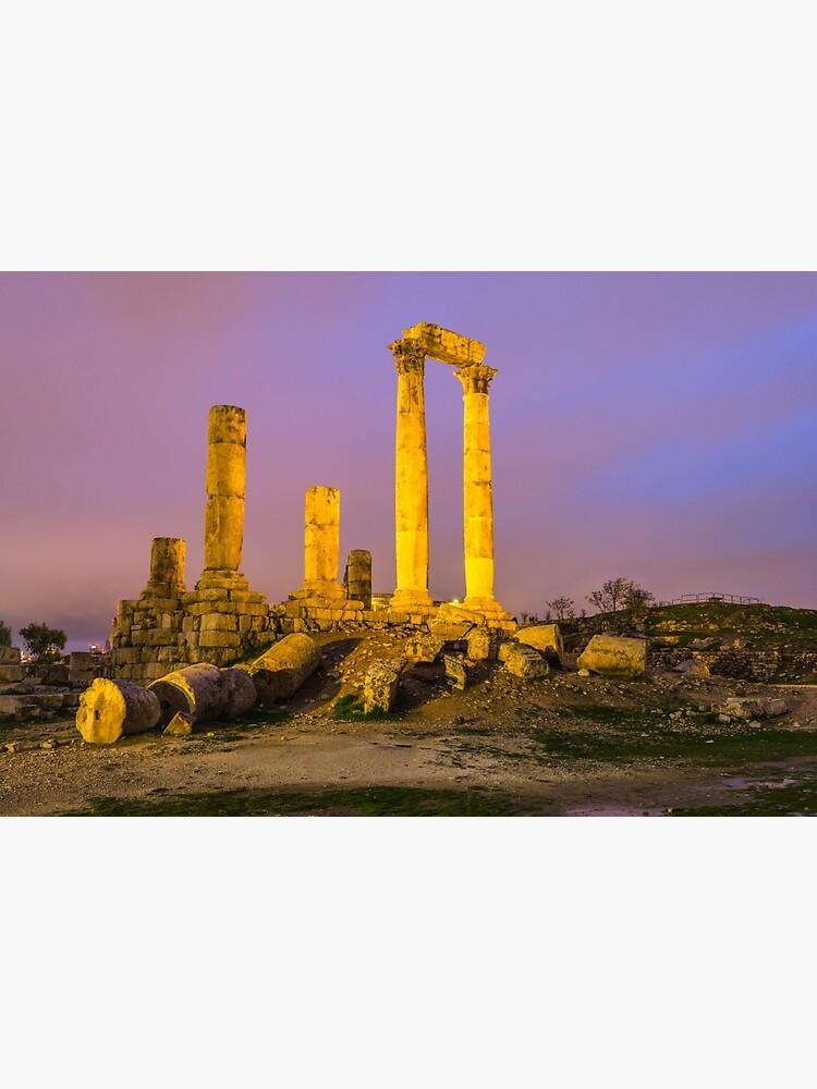 Temple of Hercules in Amman, Jordan by bertbeckers
