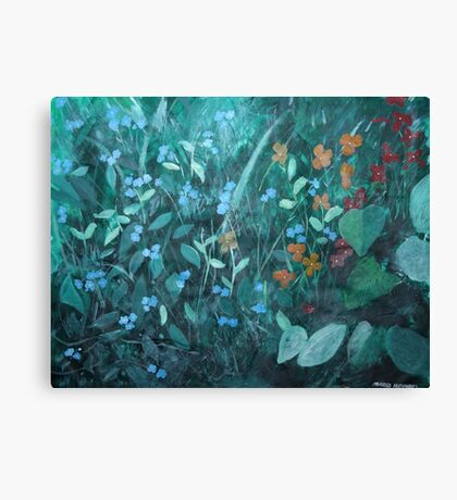 Flowers in Garden Canvas Print