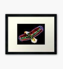 Medicine Wheel Totem Animals by Liane Pinel- Thunderbird Framed Print