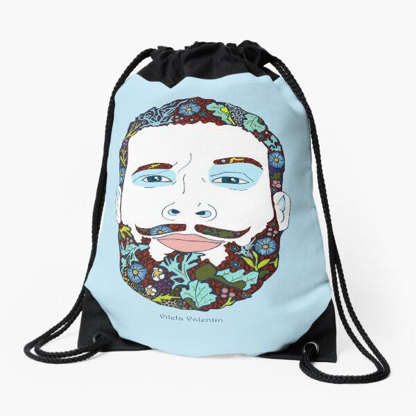 A man of nature Drawstring Bag
