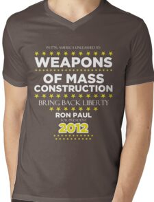 Weapons of Mass Construction - Ron Paul for President Mens V-Neck T-Shirt