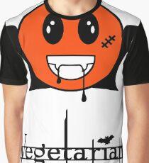 Vegetarian  Vampire Smiley VRS2 Graphic T-Shirt