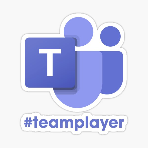 Microsoft Teams #teamplayer Sticker