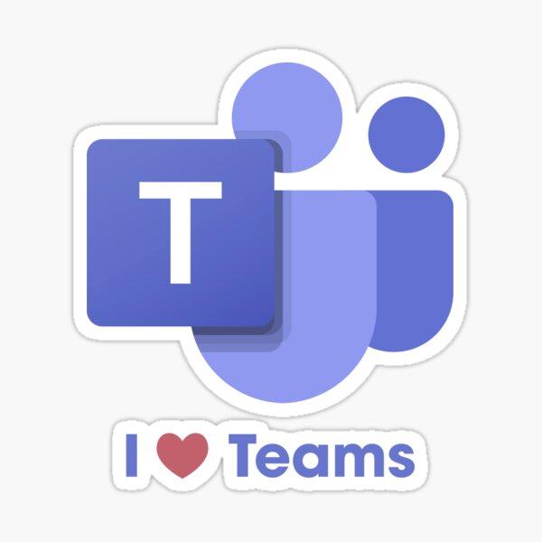 I Love Microsoft Teams Sticker