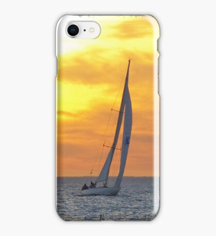 Sailing at sunset iPhone Case/Skin