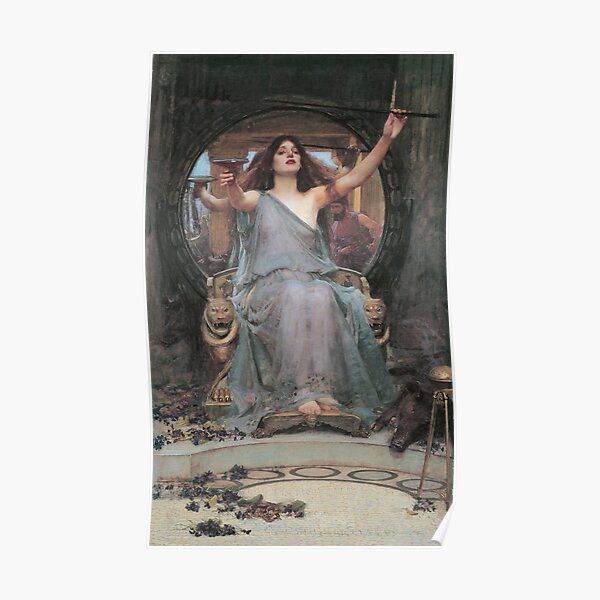 Circe Offering the Cup to Ulysses by John William Waterhouse Poster