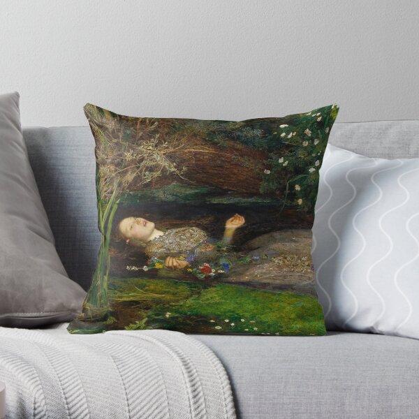 Ophelia by John Everett Millais Throw Pillow