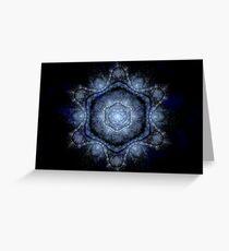 Cosmic Snowflake (Fractal) Greeting Card