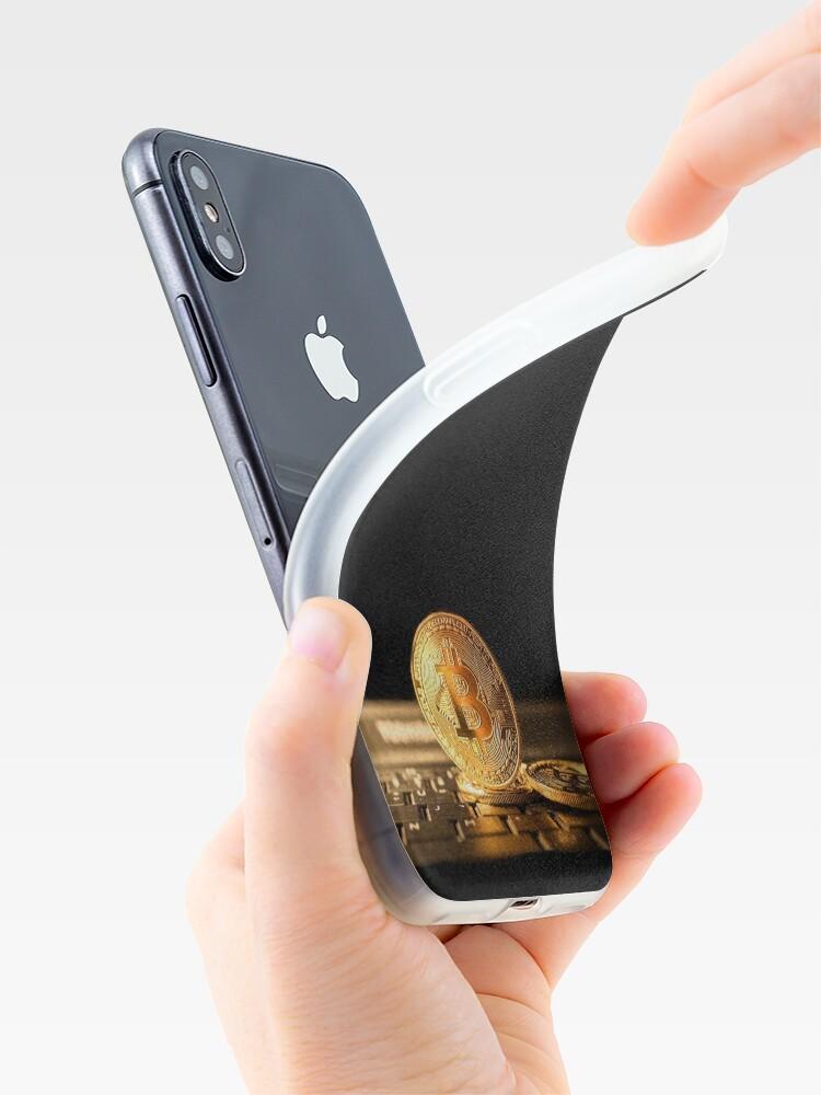 Vista alternativa de Funda y vinilo para iPhone Bitcoin el nuevo oro