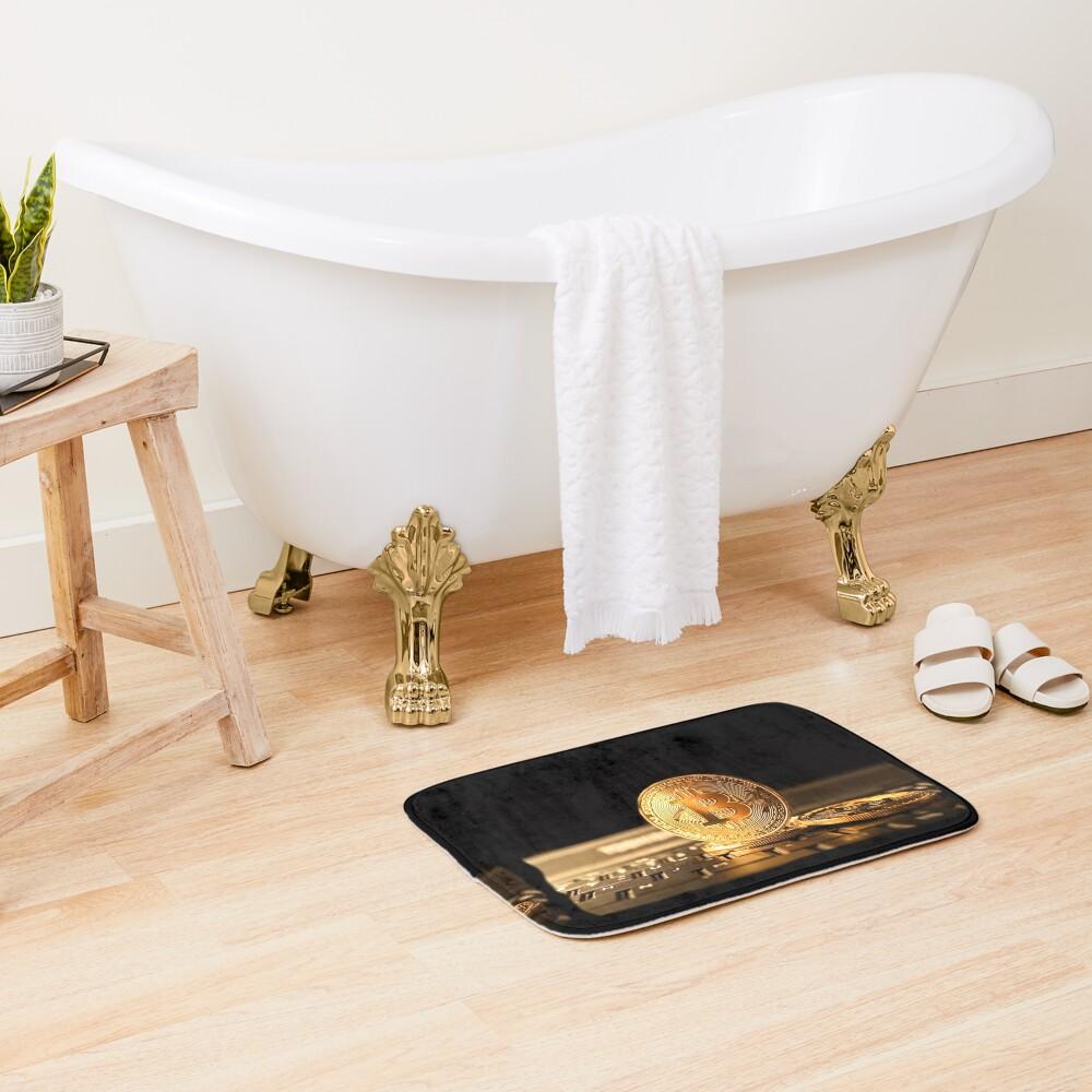 Bitcoin el nuevo oro Alfombra de baño