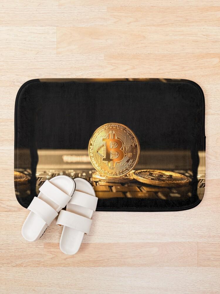 Vista alternativa de Alfombra de baño Bitcoin el nuevo oro