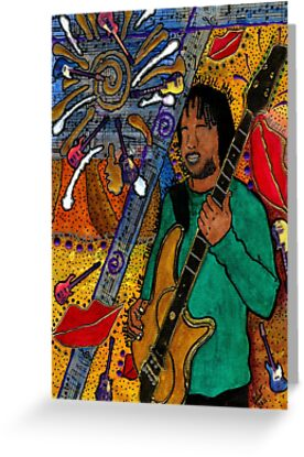 The Music Lover - Greeting Card by © Angela L Walker