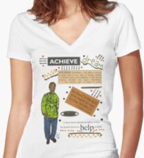 Achieve T-Shirt Women's Fitted V-Neck T-Shirt