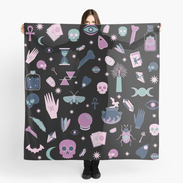 Witchy Pattern Light Magic  Scarf