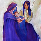Jesus with Mary and angel by vickimec