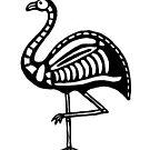 Skeletal Flamingo by tmoriginals