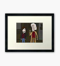 """BttF - Weds, October 21, 2015 ...""""*Size Adjusting - Fit*"""" Framed Print"""