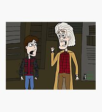 "BttF - Weds, October 21, 2015 ...""*Size Adjusting - Fit*"" Photographic Print"