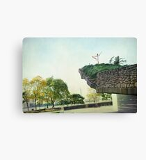 Yoga in the park Canvas Print