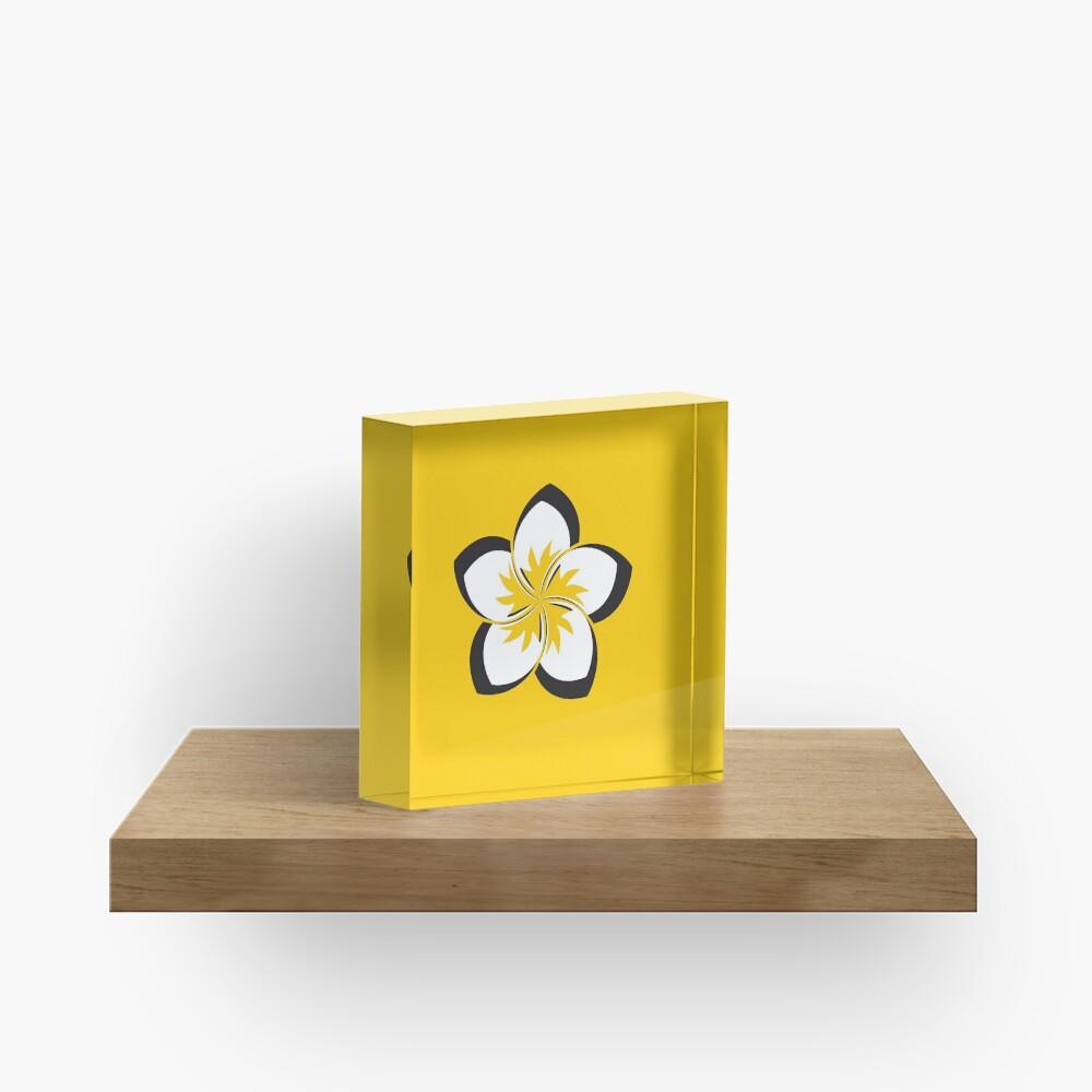 McMillan St Dojo - Power Flower Acrylic Block