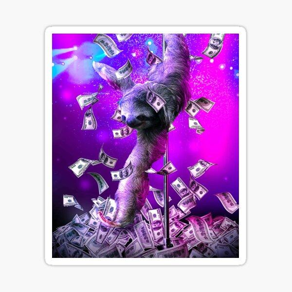 Dancing Pole Sloth Dance Sticker