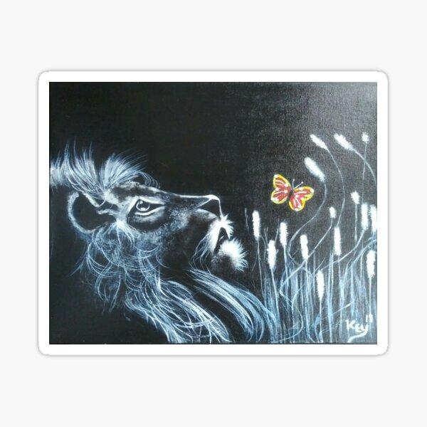 08.  Lion In Watch by Kenneth Key  Sticker