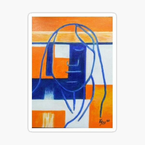 09.  Abstract Man by Kenneth Key  Sticker