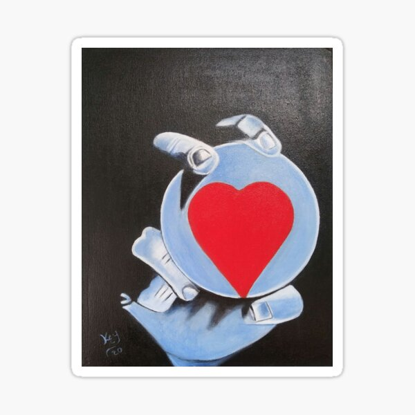 12. Heart in your hand  by Kenneth Key  Sticker