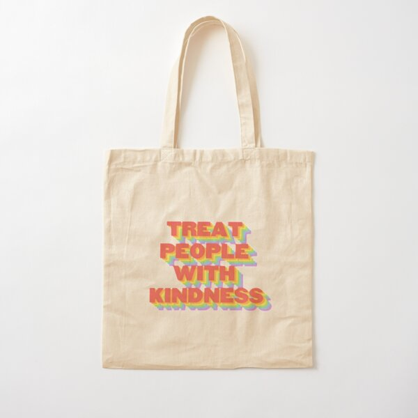 TREAT PEOPLE WITH KINDNESS (HARRY STYLES) Cotton Tote Bag