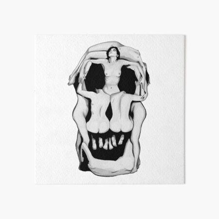 Salvador Dalí's Skulls - BLACK Art Board Print