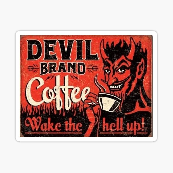devil coffee Sticker